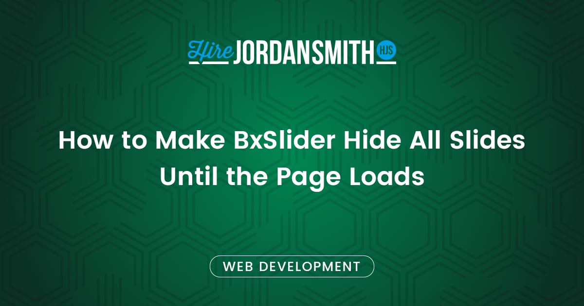 how-to-make-bxslider-hide-all-