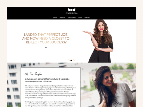 Fashion Web Design – Style by Sheyda (Thumbnail Design)