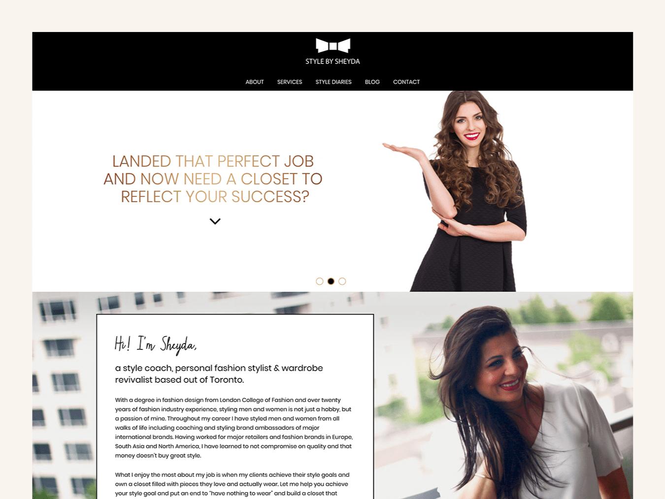 Fashion Web Design – Style by Sheyda (Thumbnail Design)