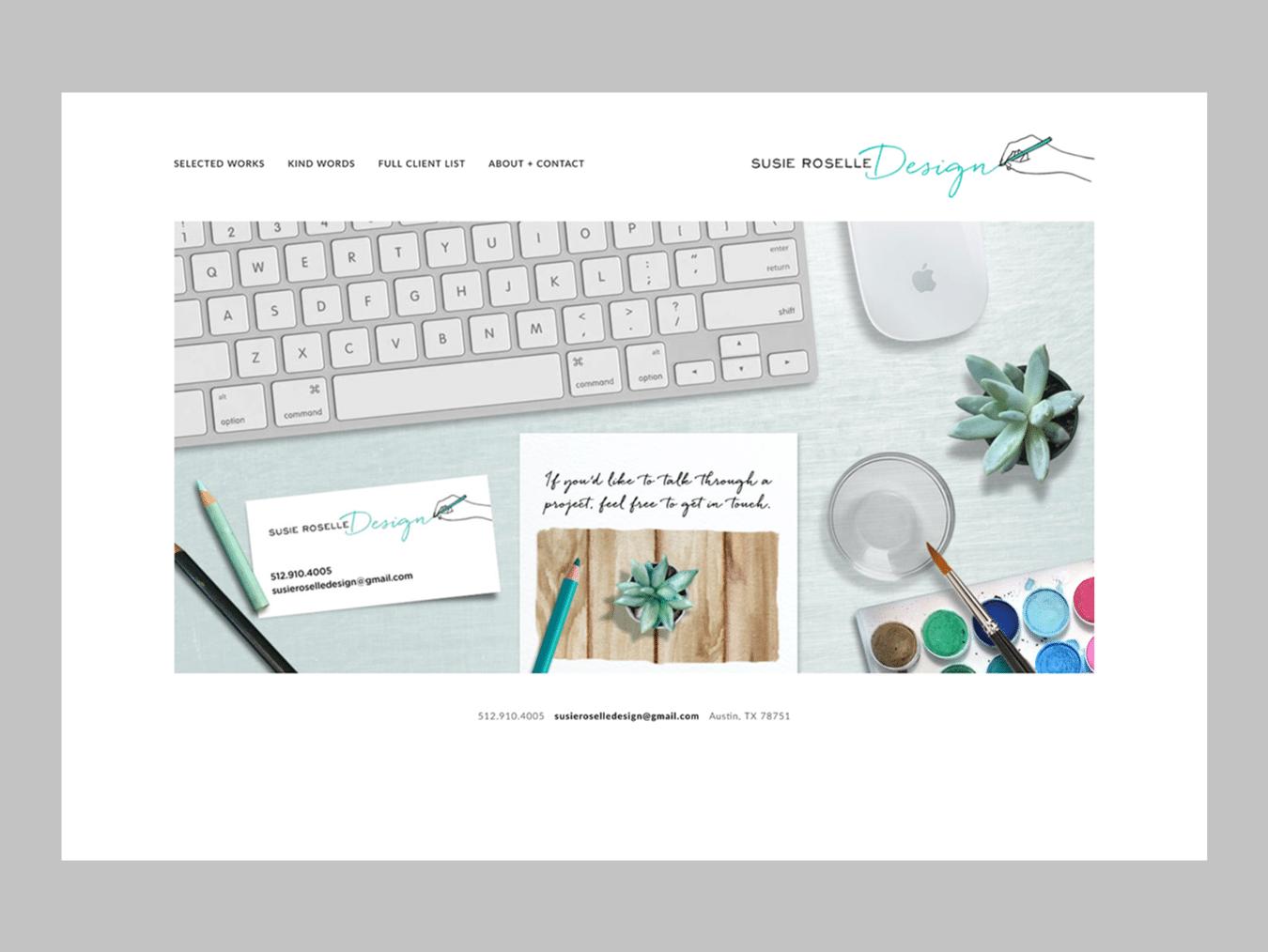 Graphic Design Web Design – Susie Roselle Design (Thumbnail Design)