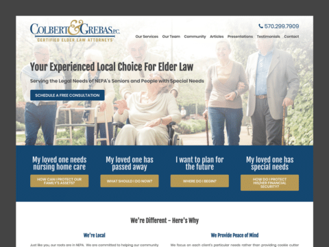 Law Firm Web Design – Colbert & Grebas (Thumbnail Design)