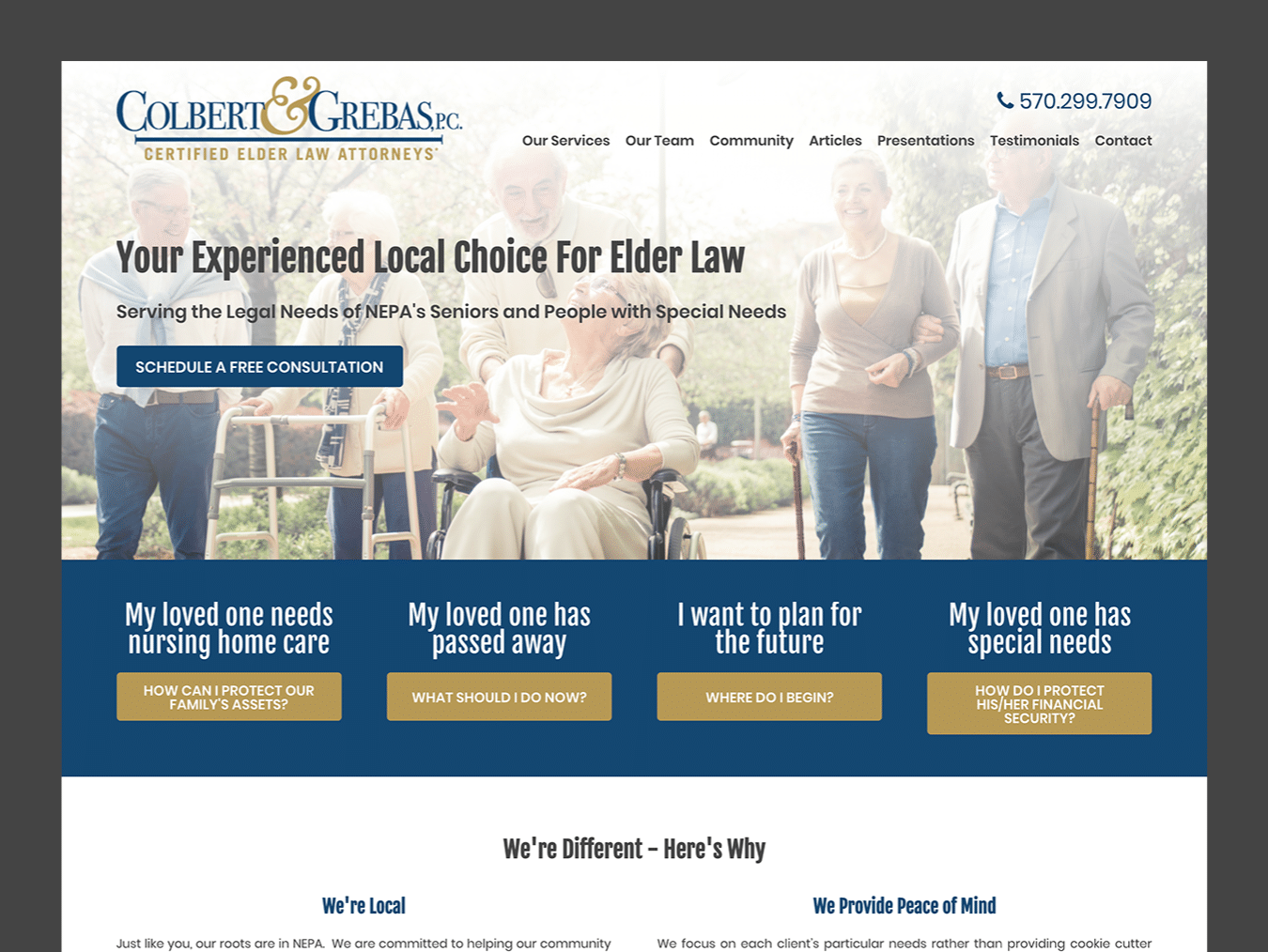 Law Firm Web Design – Colbert & Grebas (Thumbnail Design)