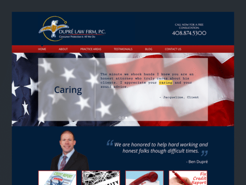 Law Firm Web Design – Dupre Law Firm (Thumbnail Design)