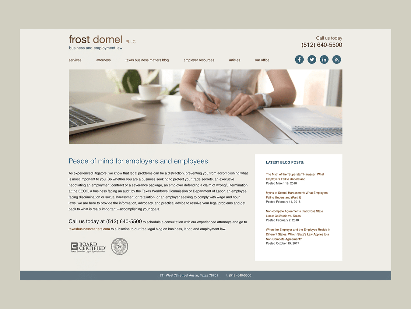 Law Firm Web Design – Frost Domel (Thumbnail Design)