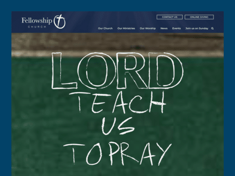 Ministry & Non Profit Web Design – Fellowship Church (Thumbnail Design)