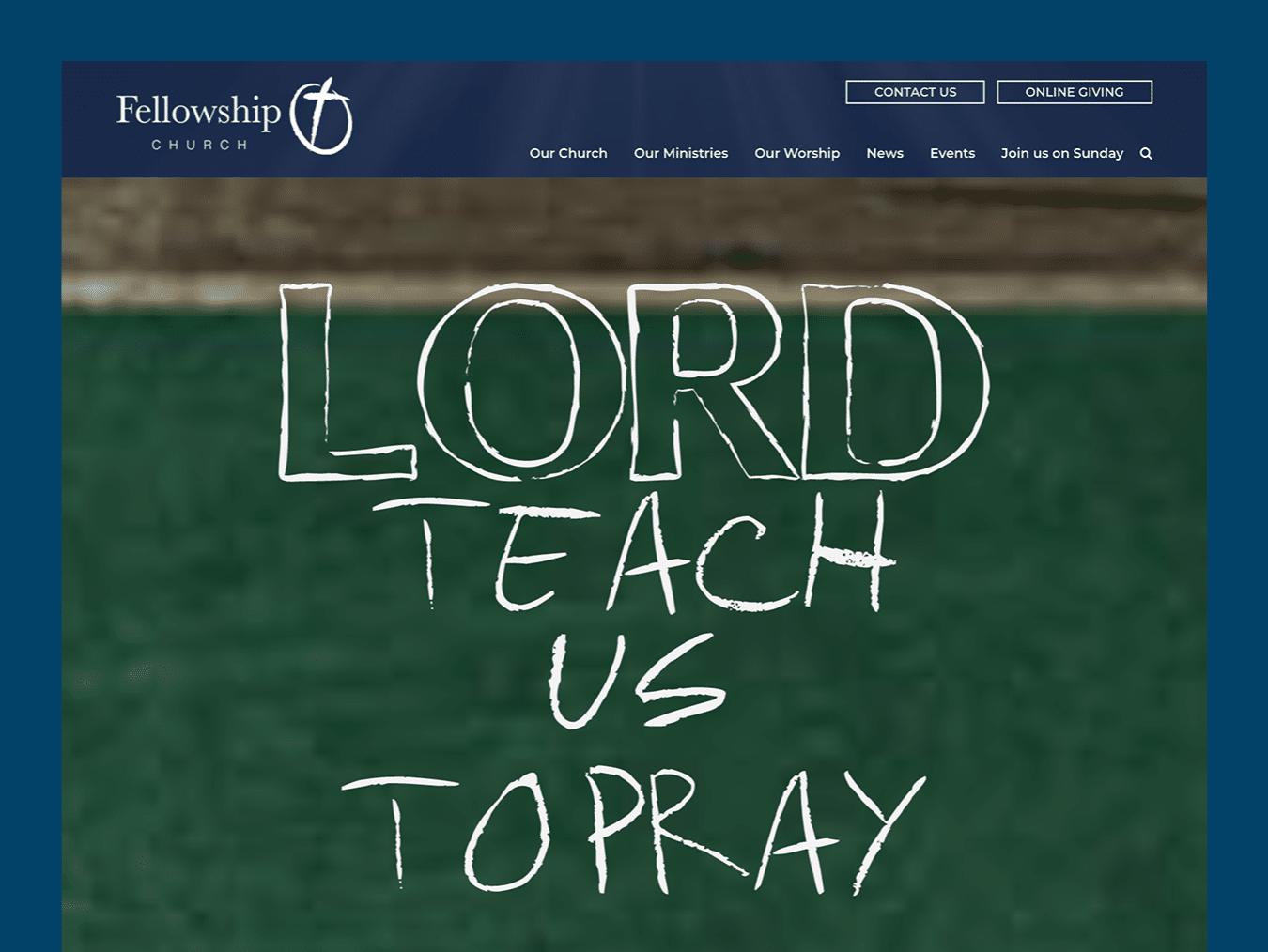 Ministry & Non Profit Web Design – Fellowship Church (Thumbnail Design)