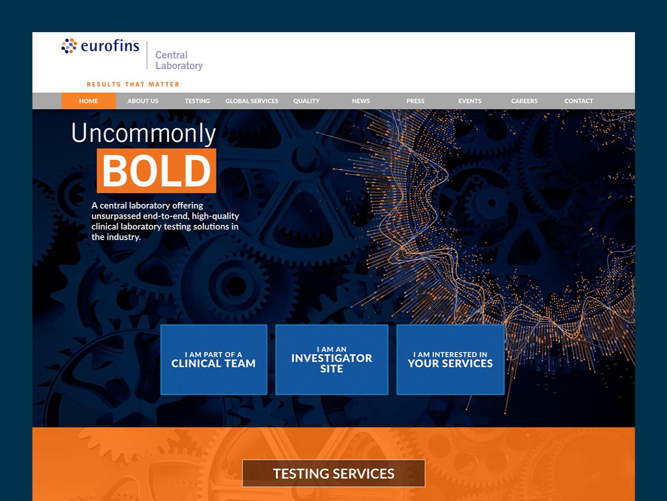 Science Web Design – Eurofins Central Laboratory (Thumbnail Design)