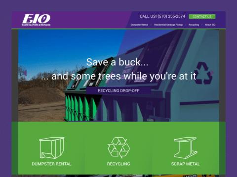 Service Company Web Design – EIO Waste (Thumbnail Design)