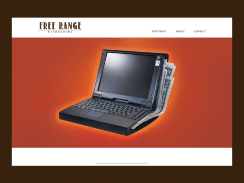 Service Company Web Design – Free Range Retouching (Thumbnail Design)