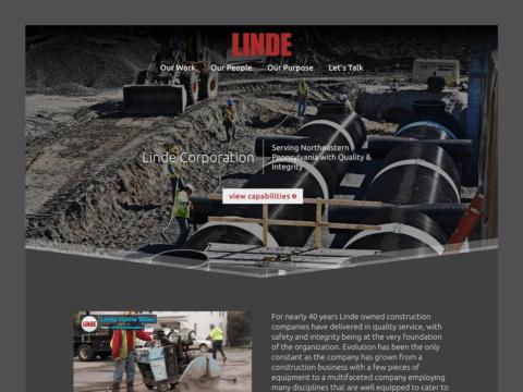 Service Company Web Design – Linde Corporation (Thumbnail Design)