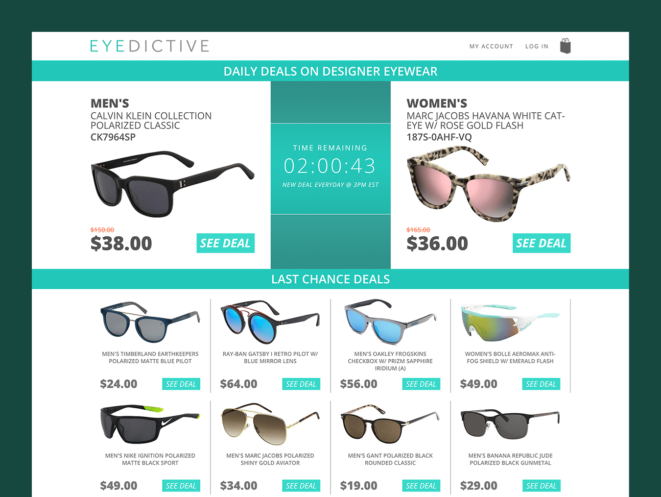 Clothing & Apparel Web Design – Eye Dictive (Thumbnail Design)