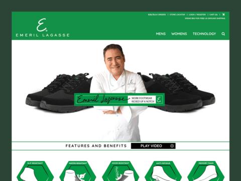 Clothing & Apparel Web Design – Emeril Lagasse (Thumbnail Design)