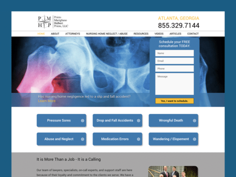 Law Firm Web Design – PMHP Law (Thumbnail Design)