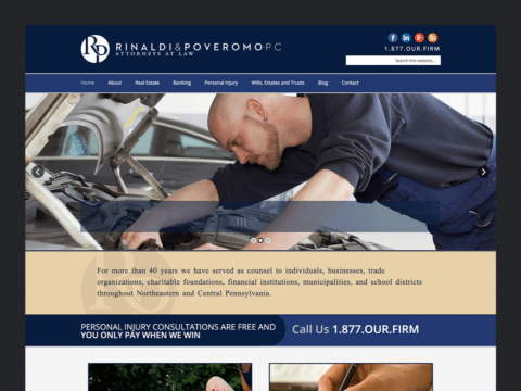 Law Firm Web Design – Law in PA (Thumbnail Design)