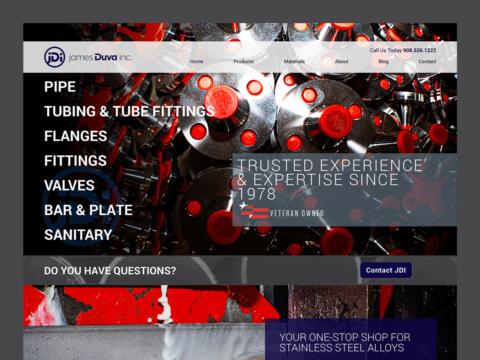 Service Company Web Design – James Duva (Thumbnail Design)