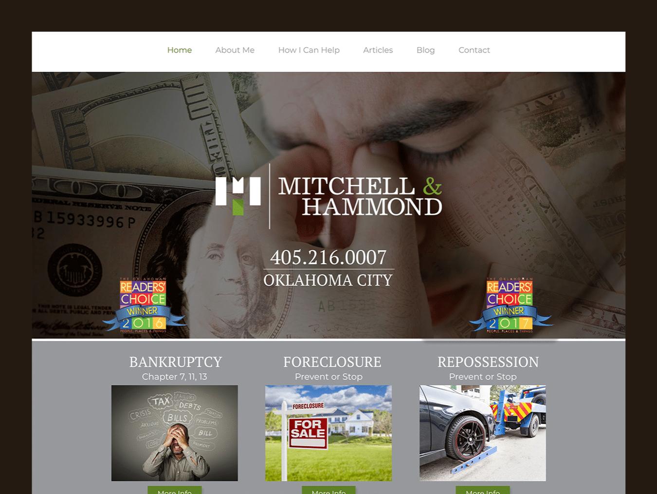 Service Company Web Design – Mitchell & Hammond (Thumbnail Design)