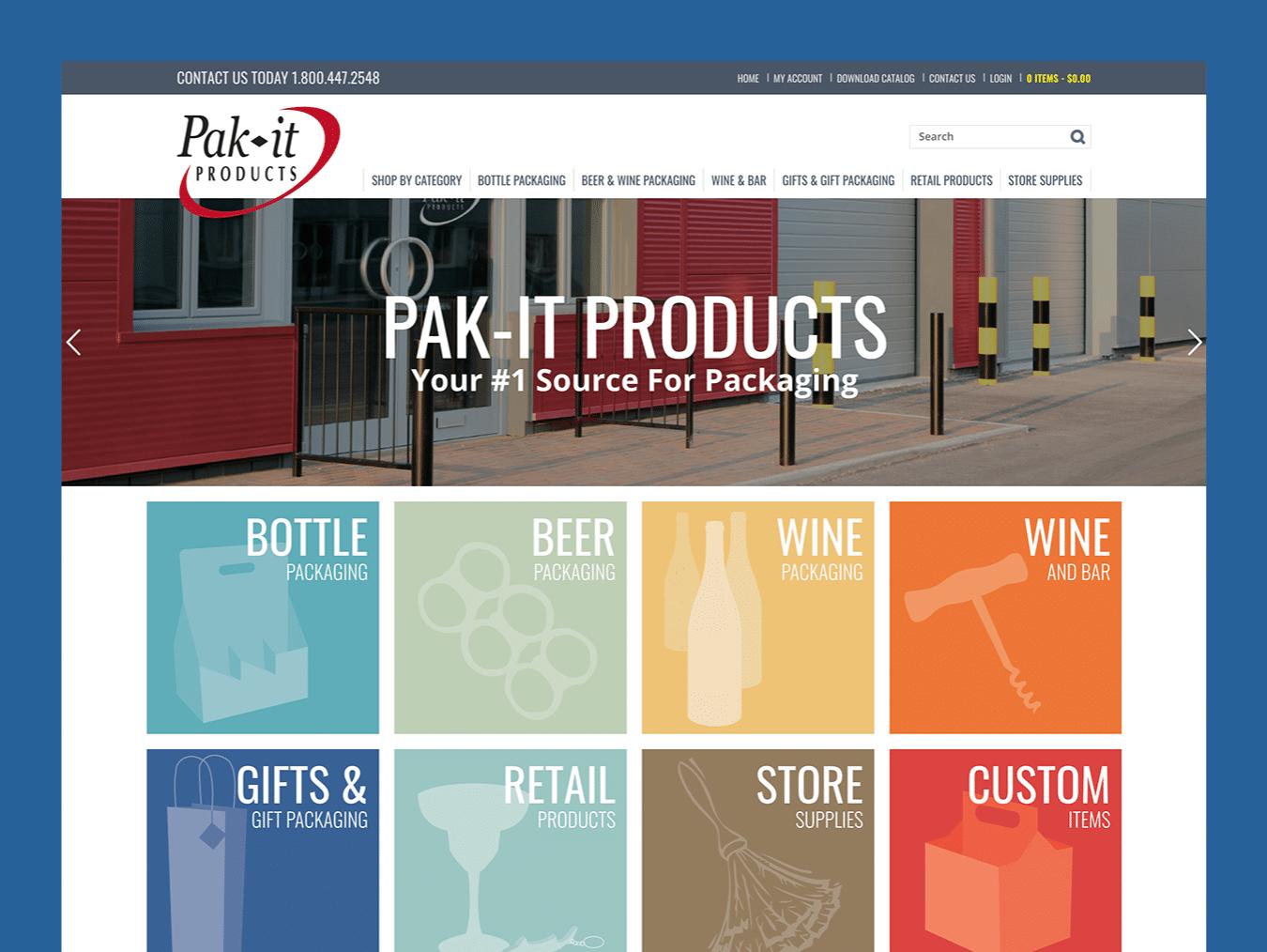 Service Company Web Design – Pakit Products (Thumbnail Design)