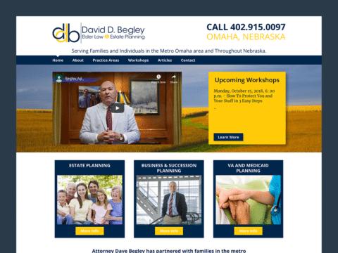 Service Company Web Design – David D. Begley (Thumbnail Design)