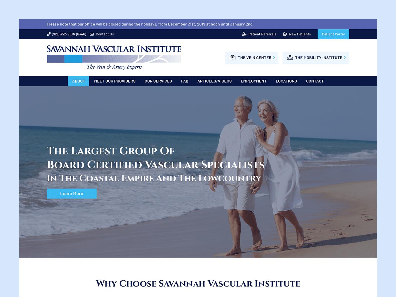 healthcare-web-design-savannah-vascular-thumbnail-design