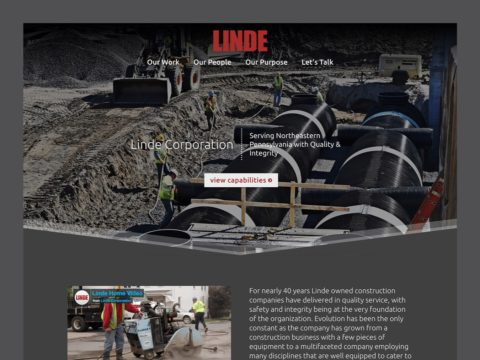 Service Company Web Design – Linde Corporation (Thumbnail Design)