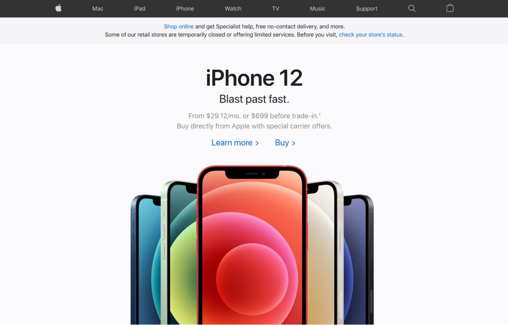 apple website modern