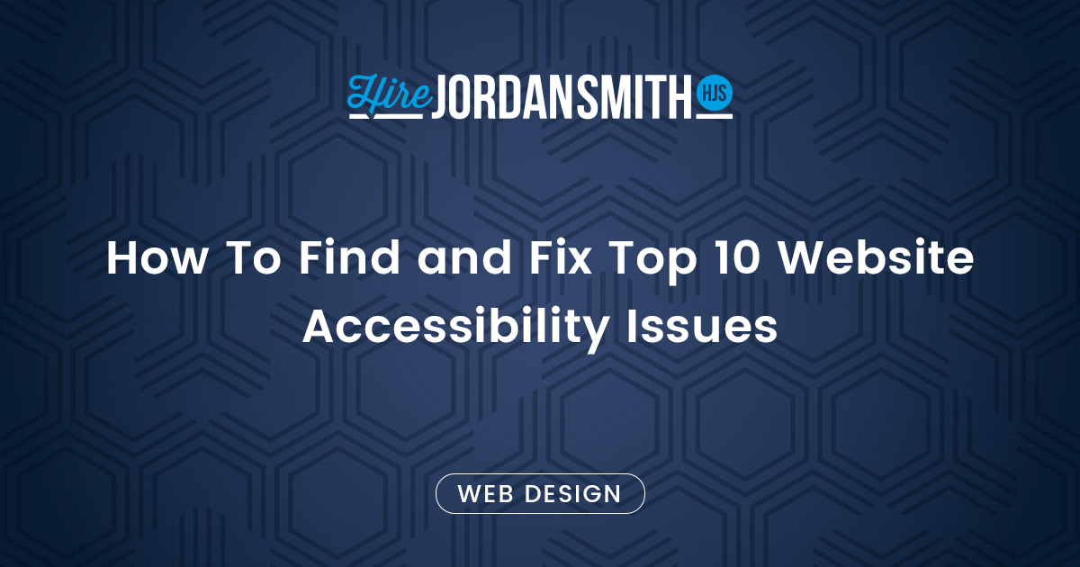 Fix Website Accessibility Issues